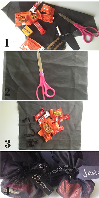Creating a treat bag placeholder using Hershey's Halloween Candy