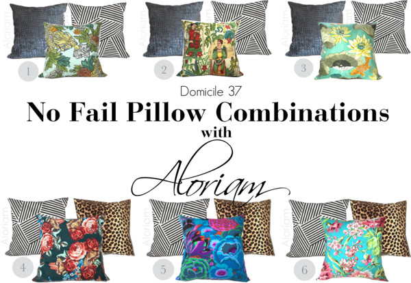 No Fail Pillow Combinations with Aloriam