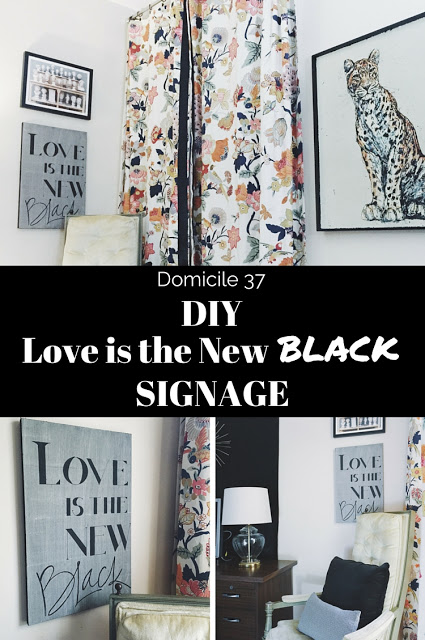 DIY Love is the New Black Signage
