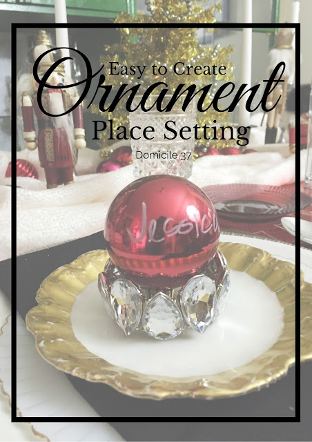 Easy to Create Ornament Place Setting