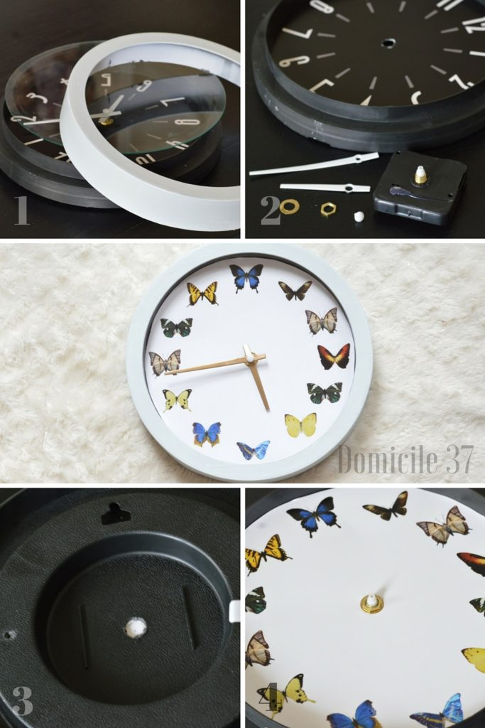 How to disassemble a clock to add a homemade printable using graphic stock images