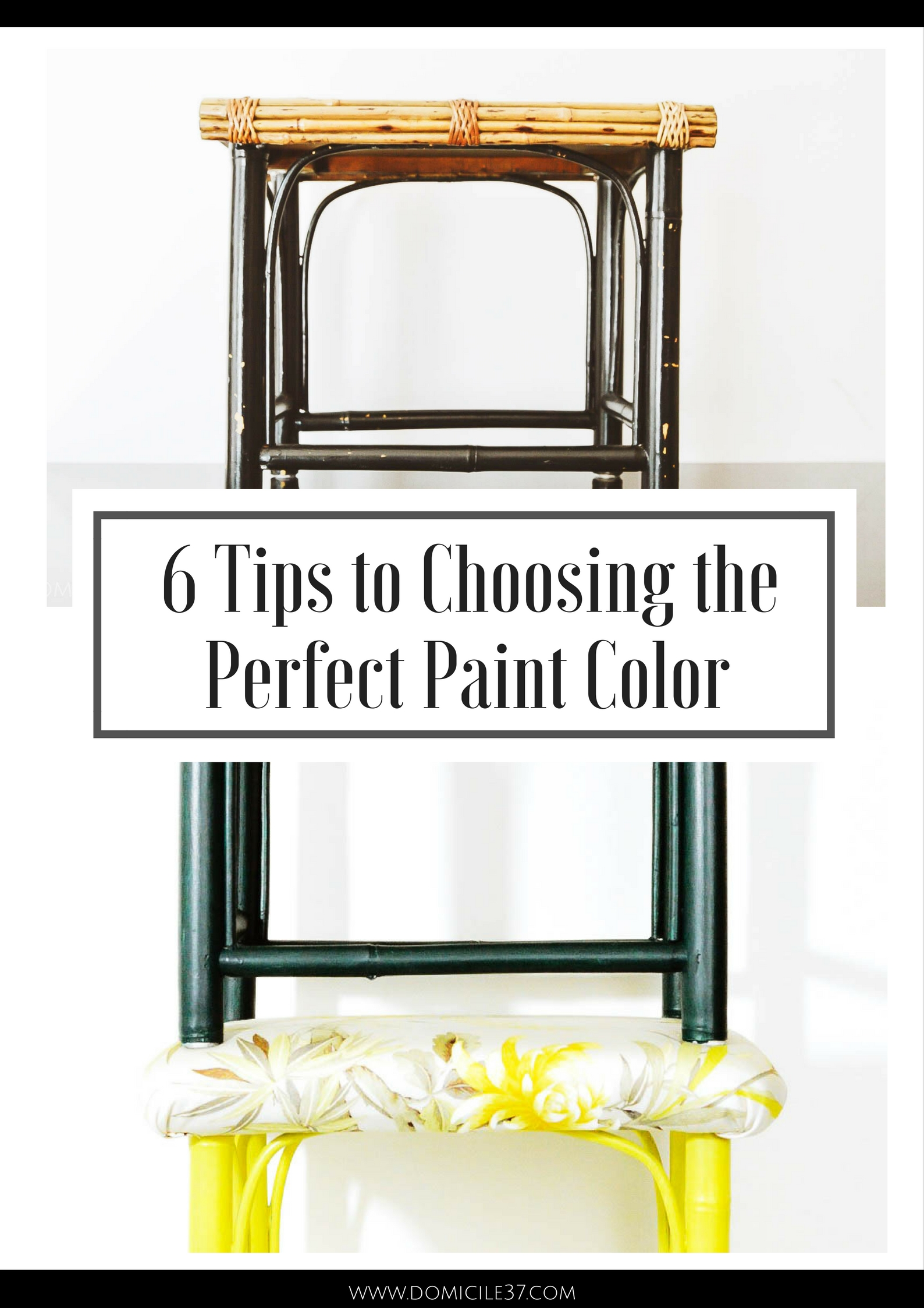 Painting tips | choosing the right color paint to paint furniture | before and after furniture | bamboo furniture
