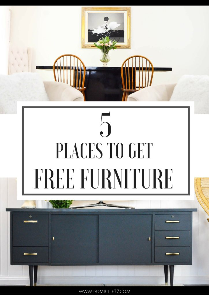 5 Places to get free furniture