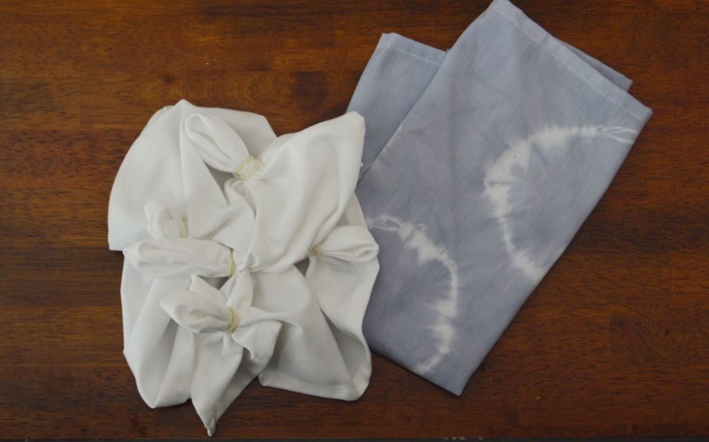 How to create shibori circle print napkins using rit dye