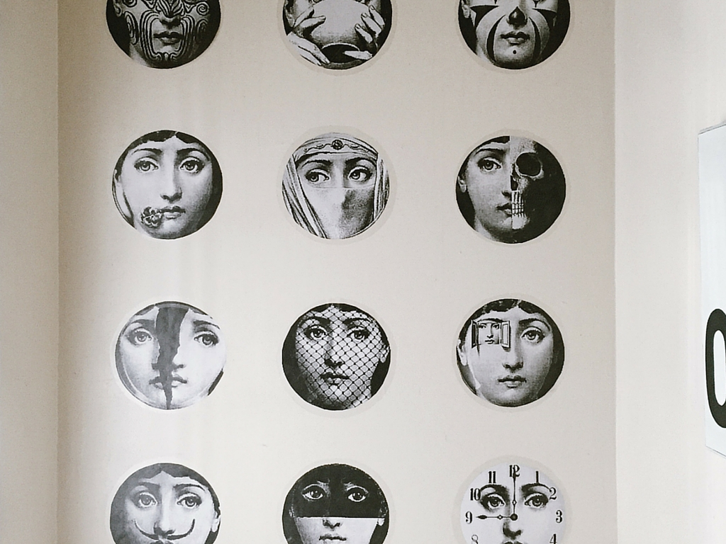 How to create a fornasetti wall with contact paper