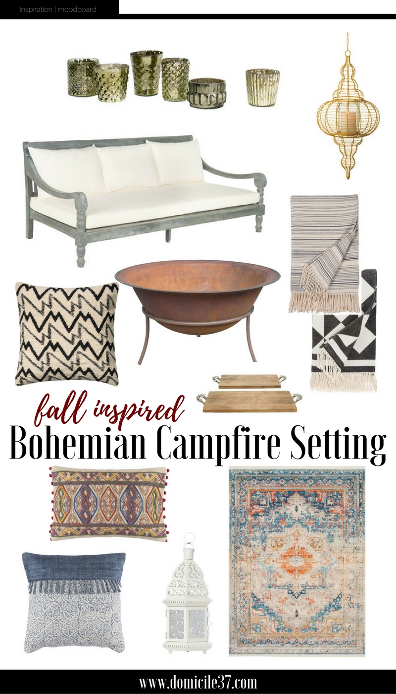 A Night under the campfire bohemian style with Wayfair