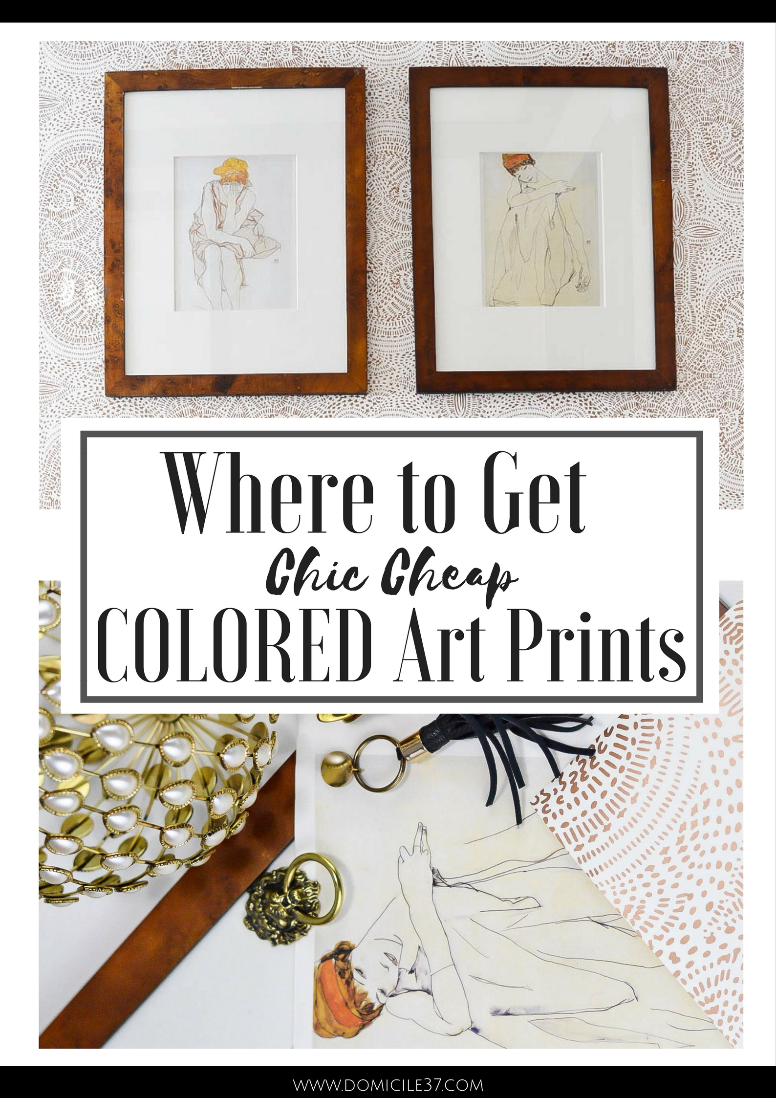 Sharing my source on where to get chic cheap colored art prints | DIY framed calendar art | How to Frame Calendar Art