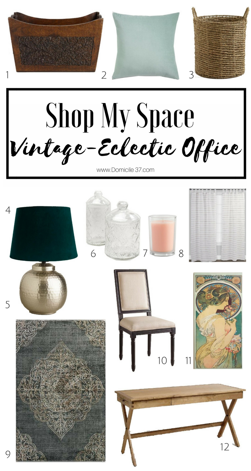 World Market Exclusive- Shop my space Vintage Eclectic Office Makeover | World Market | Eclectic Office/Study