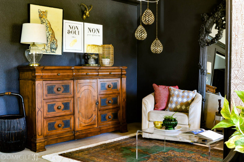 Vintage-Eclectic Foyer and Sitting Room Reveal
