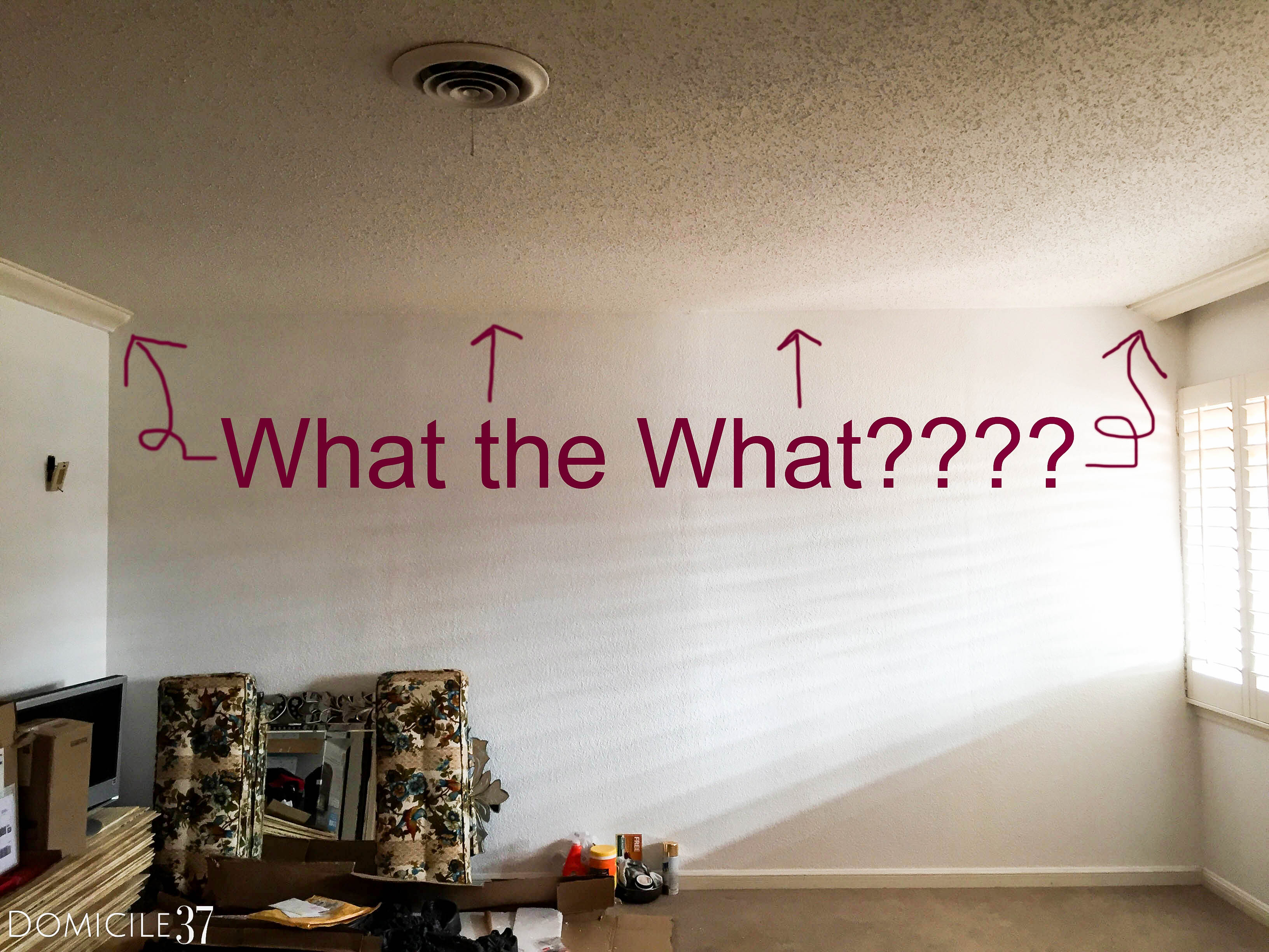 what do you do when you are missing one wall of crown molding?
