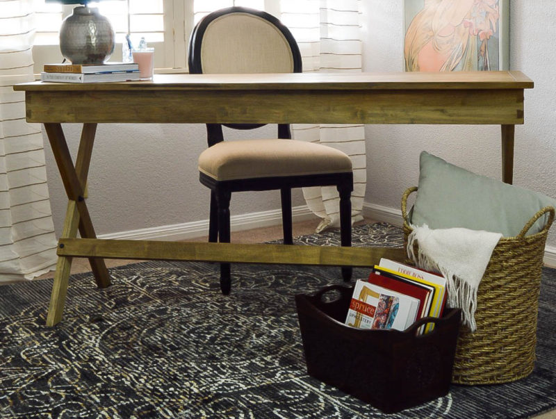 Vintage Eclectic Office Makeover with World Market