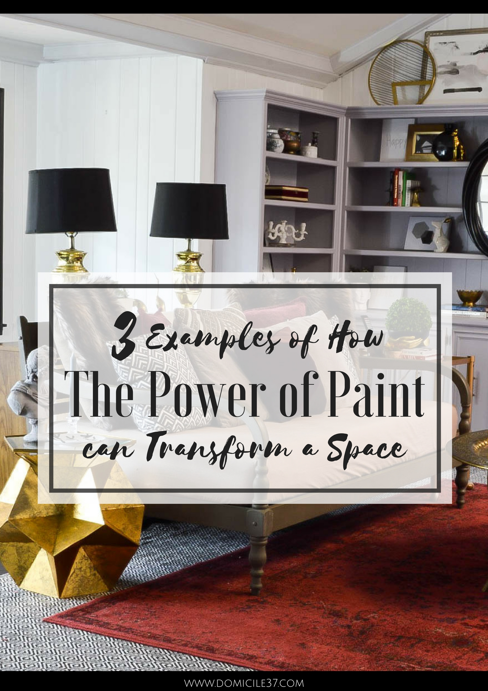 The Power of Paint | Room transformations | How paint transforms a space | Room Makeovers | Vintage Eclectic Living Room | Moody Neutrals | Black Floors | Painted Shelves | Collected spaces | Thrifted decor