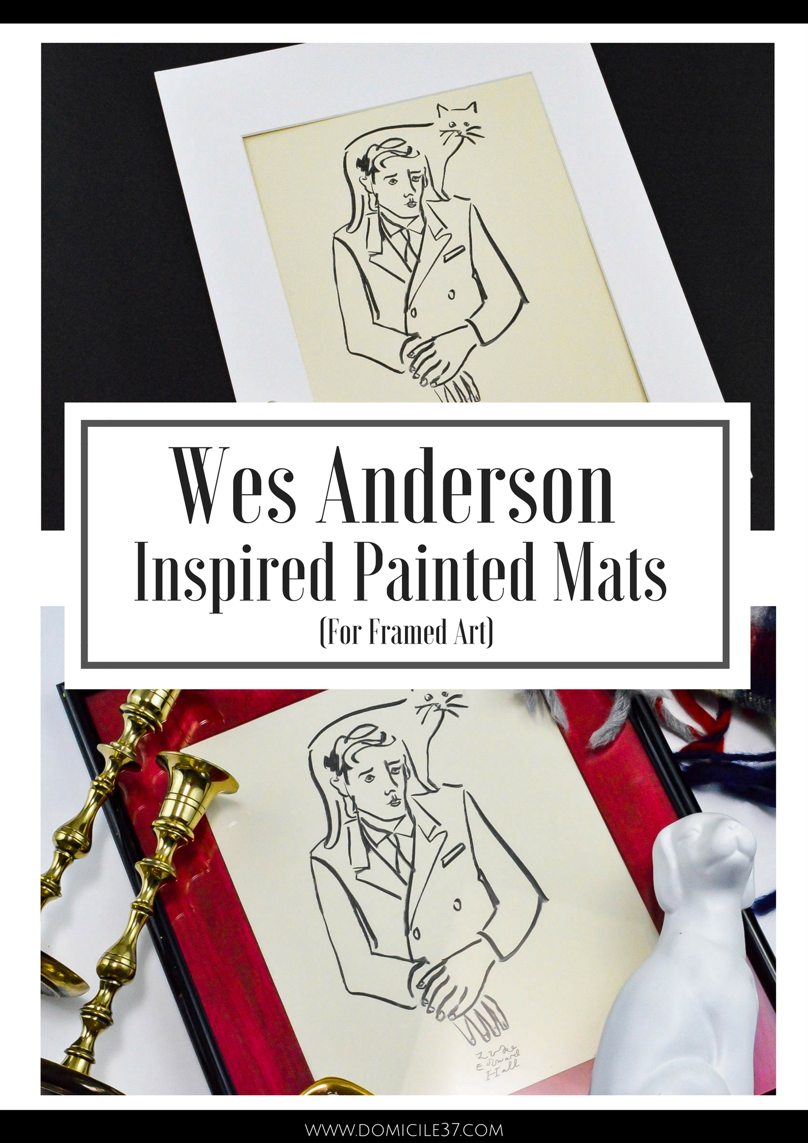 Wes Anderson Inspired Painted Mats for pictures | Luke Edward Hall Printable | Deco Art Painted Mats | Whimsical Art prints | Painted Colored Mats