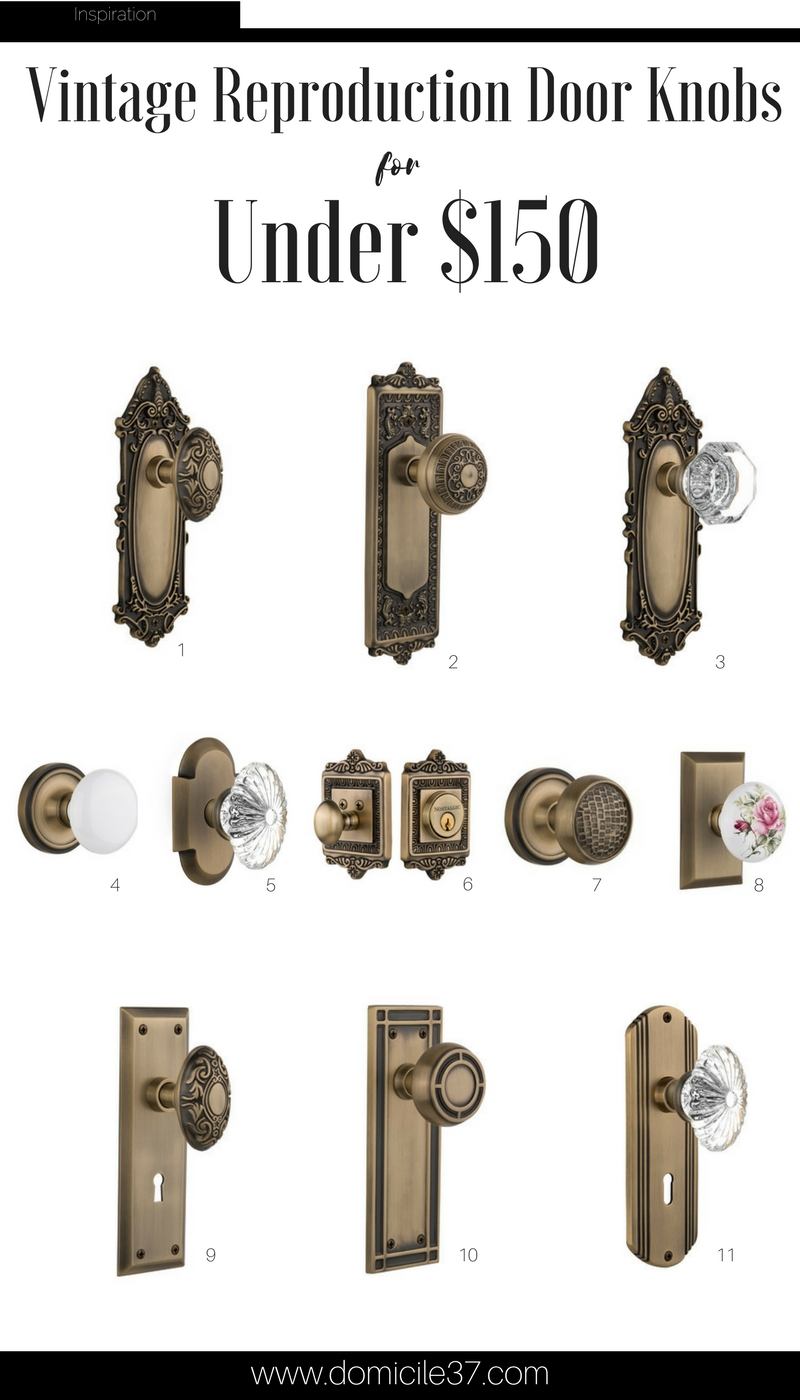11 Vintage Reproduction Door Knobs | How to add a vintage charm into your home | vintage door knobs | Black doors with vintage door knobs | Moody homes with vintage touches | Vintage eclectic decor | Nostalgic Warehouse | Wayfair door knobs