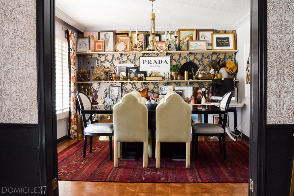 How to spruce up your rental dining room | rental dining room ideas | chic dining rooms | eclectic dining rooms | How to spruce up your rental