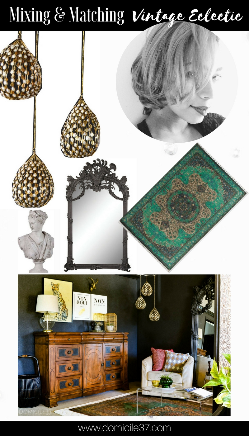 My Home Style | How to mix and match different styles in your home | Mix and match vintage eclectic | Moody decor