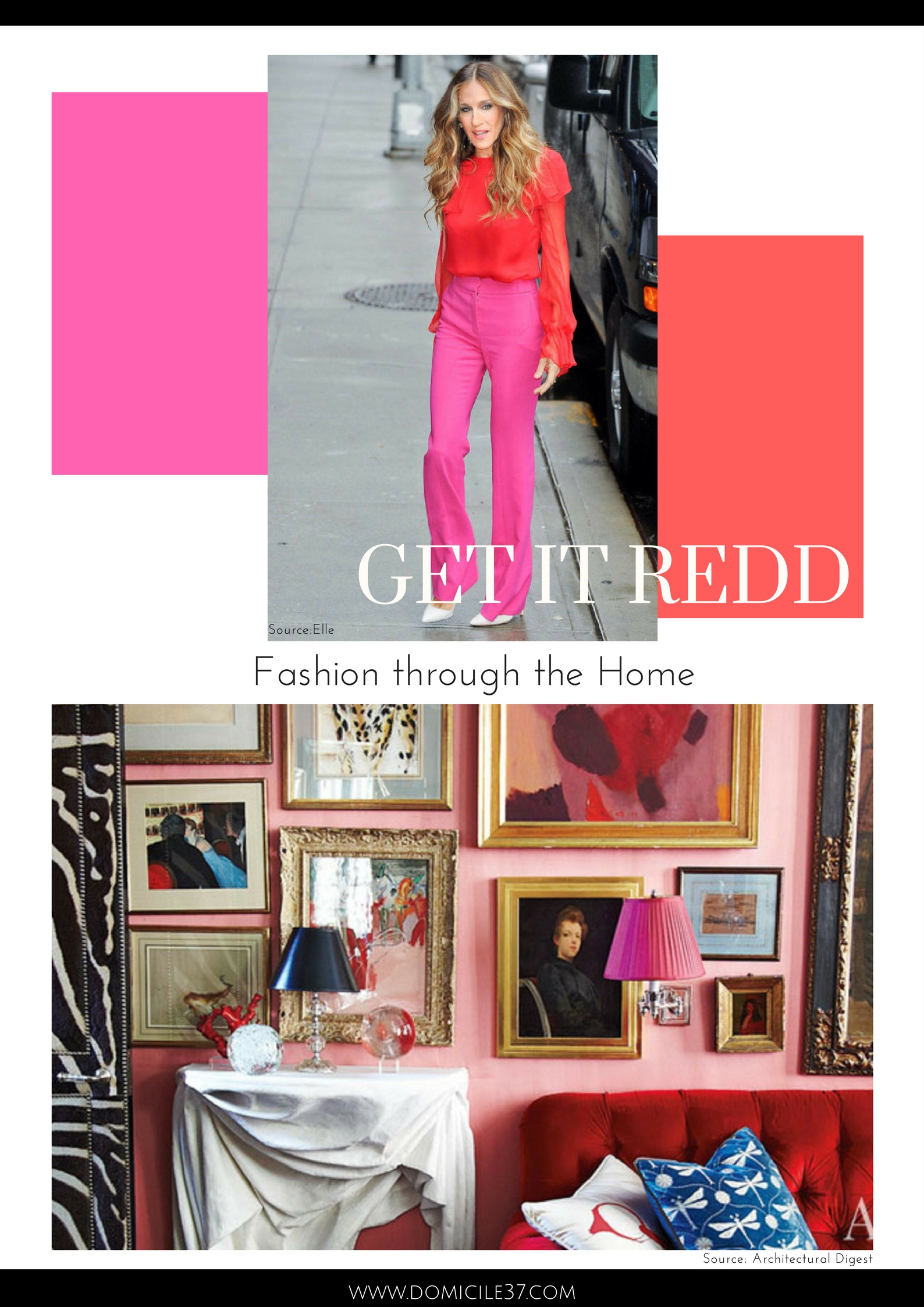 Sarah Jessica Parker fashion inspiration | Home decor inspired by Sarah Jessica Parker | Miles Redd