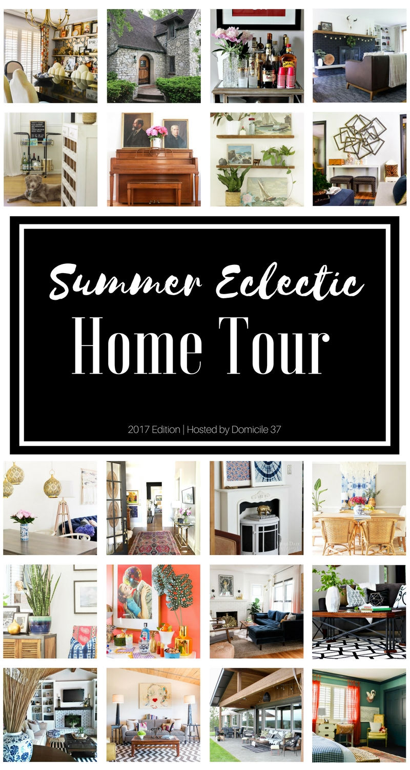 Summer 2017 Eclectic Home Tour | Eclectic Interiors | Eclectic Homes | Boho decor | Vintage Eclectic decor | Bold Geometric decor | Maximalist style| Vibrant decor