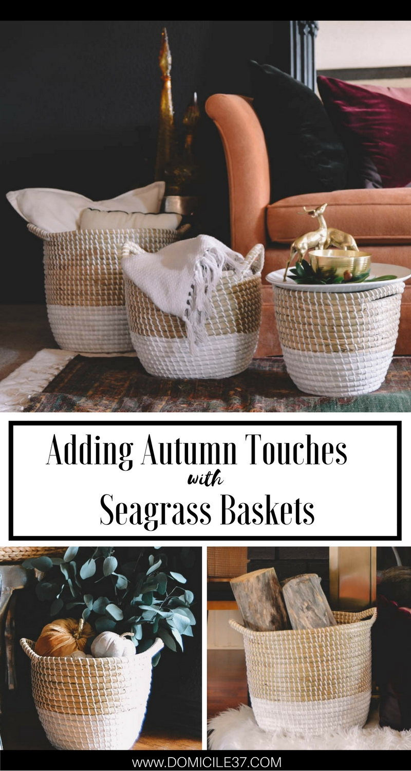 Autumn Decor | Adding fall touches to your home | decorating with baskets