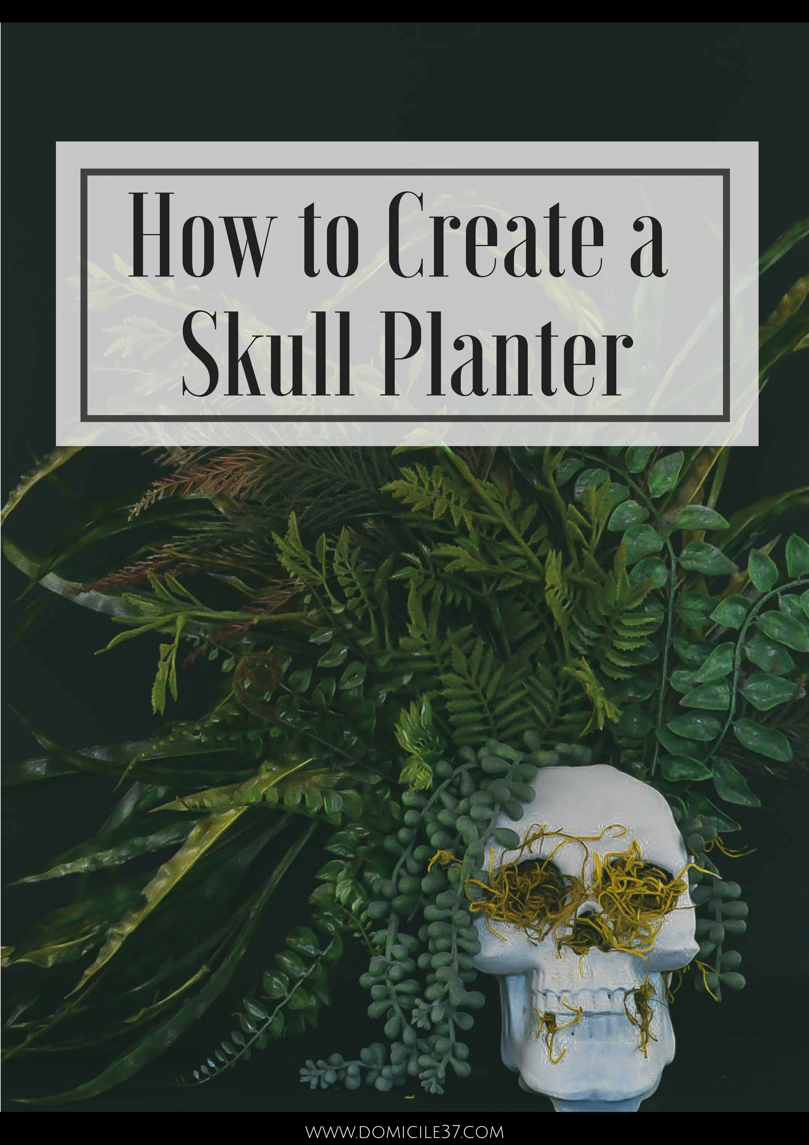 How to make a floral arrangement | boho skull planter | faux skull planter DIY | DIY Halloween decor | skull decor | Faux floral arrangement
