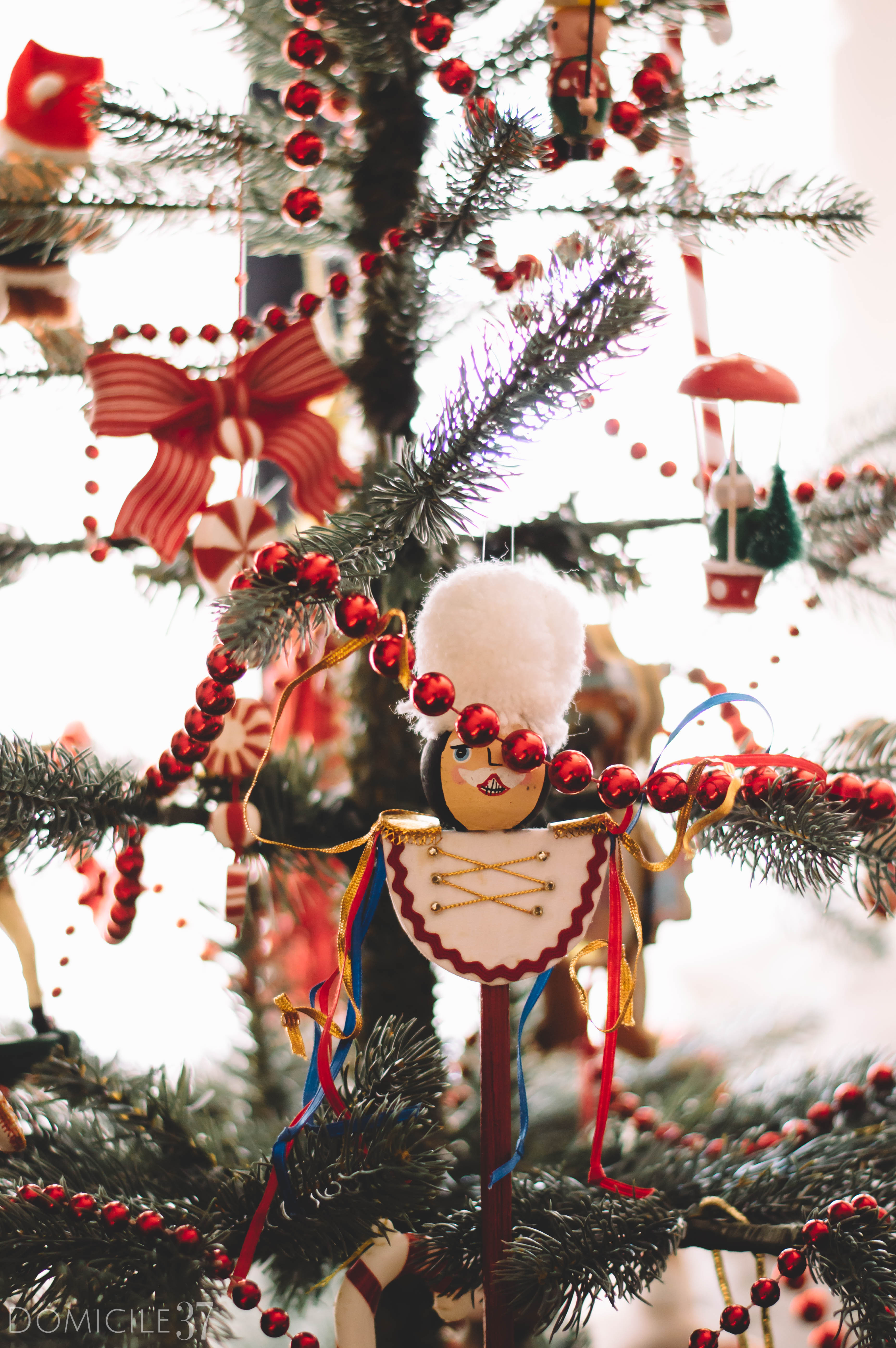 Vintage Ornaments | Thrifted Ornaments | Christmas Tree in bedroom | Toy Soldier ornaments