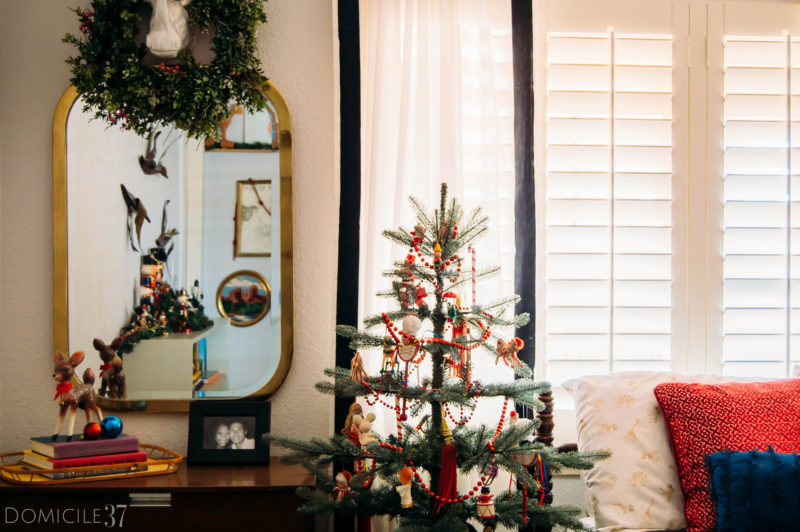 Thrifted Vintage Eclectic Christmas Bedroom Tour