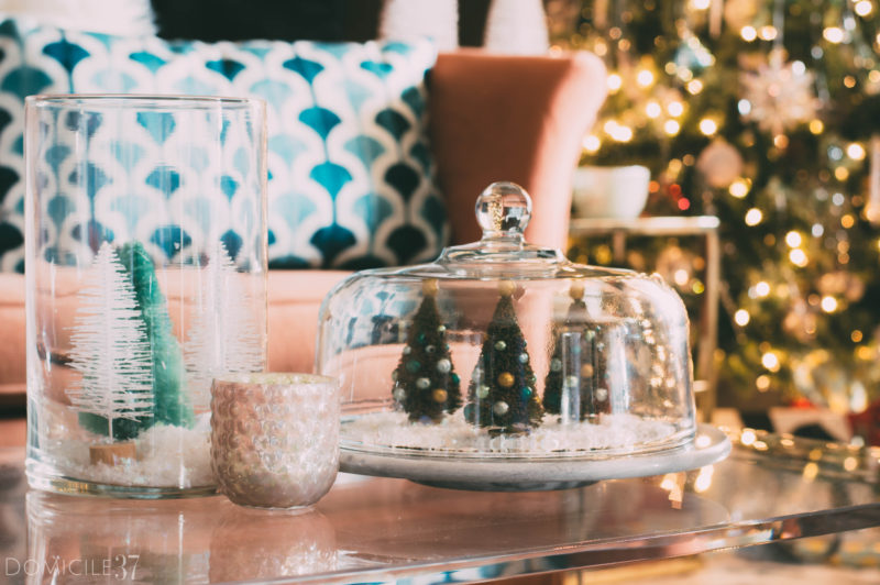 Vintage Eclectic Christmas Decor and DIY Terrarium
