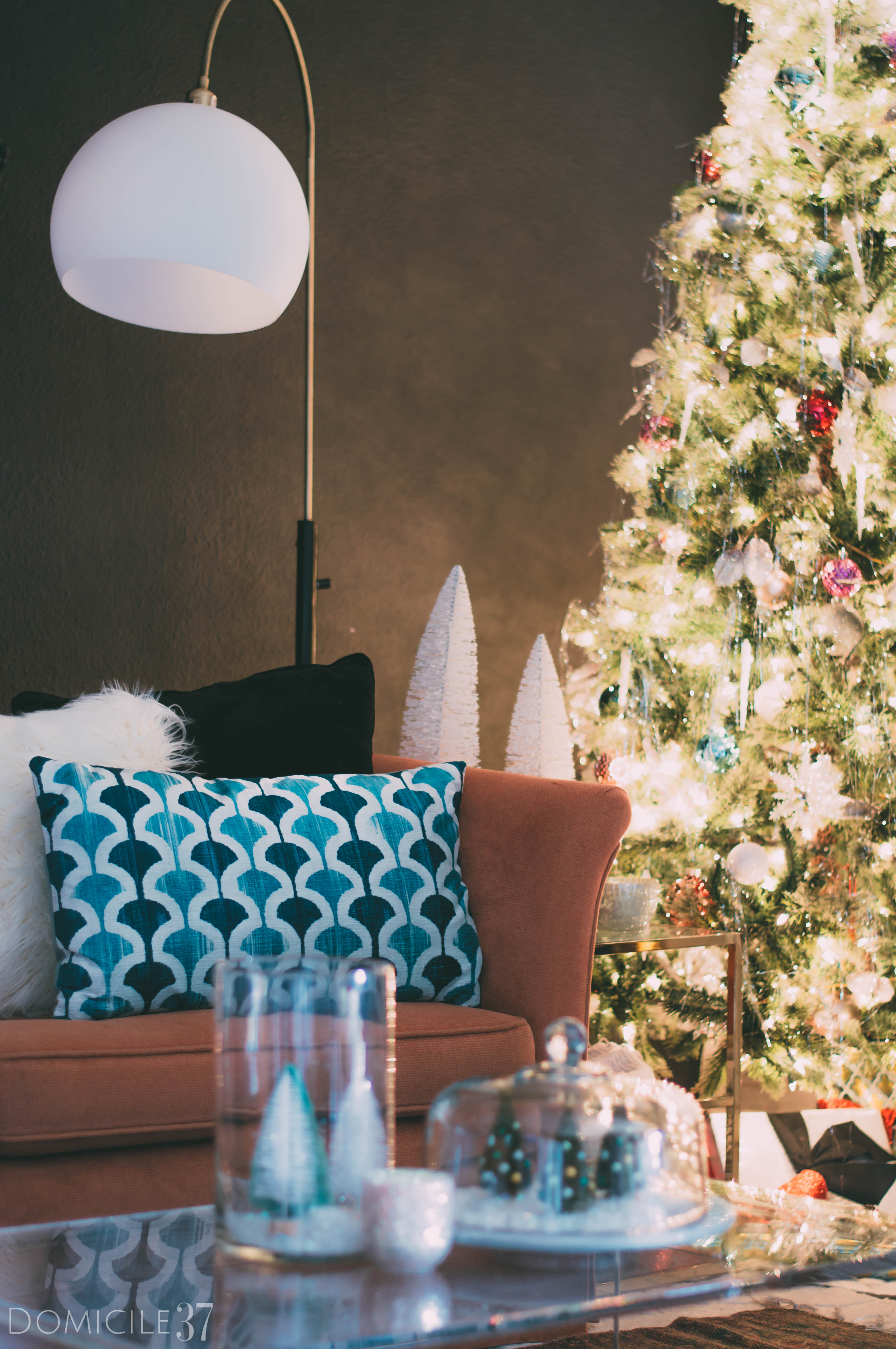 World Market | World Market Pillows | Fur pillows | Blue pillows | global pillows | Christmas pillows | Christmas decor | Christmas on a budget | Inexpensive Christmas decor