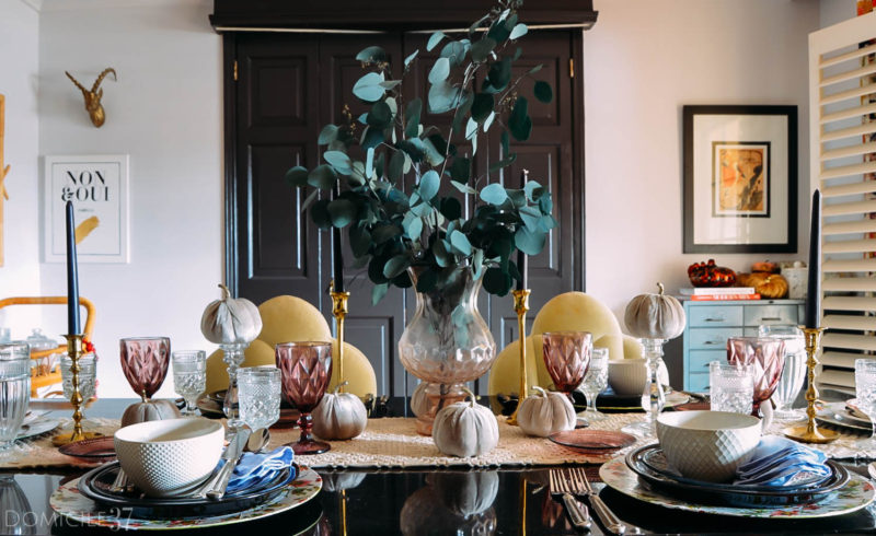 Bohemian Eclectic Thanksgiving Tablescape