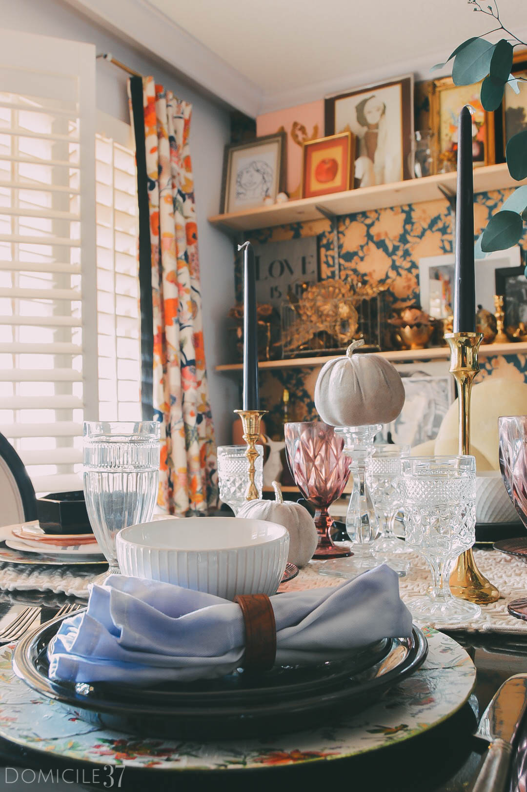 Thanksgiving tablescape idea | Mixining and matching table setting | Place setting ideas | Thanksgiving | #thanksgivingdecor | #Thanksgiving