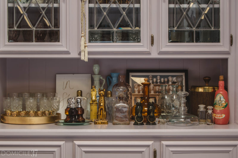 5 Simple Bar Cabinet Styling Tips (For the Collector)