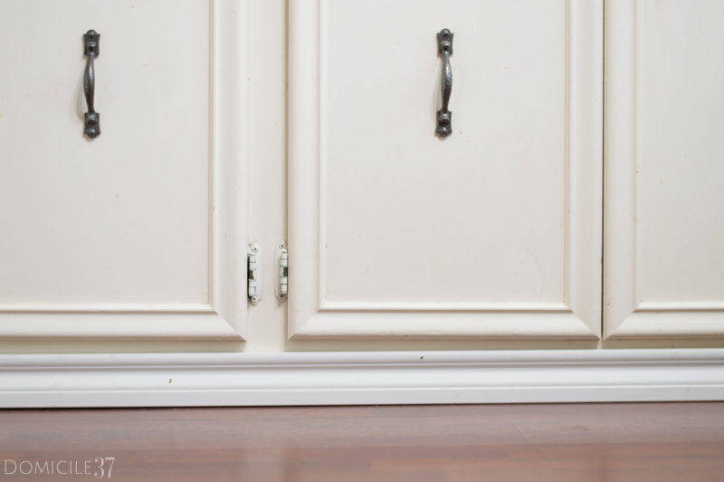 How To Install Baseboards over Cabinet Toe kicks