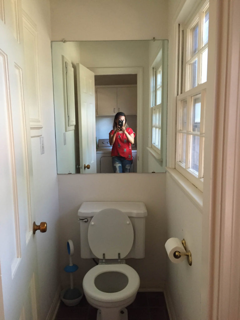 Before Water Closet Makeover