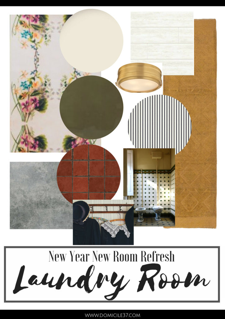 New year new room refresh, laundry room moodboard, soulful laundry room