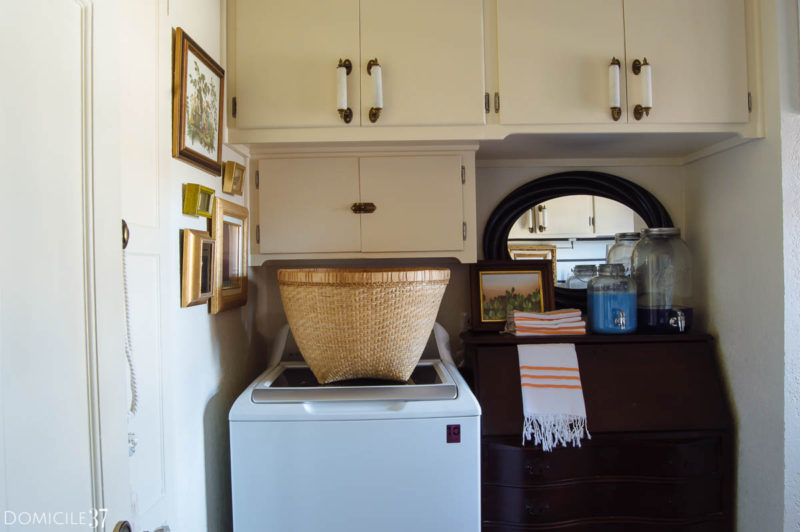 Vintage Eclectic Laundry Room Reveal