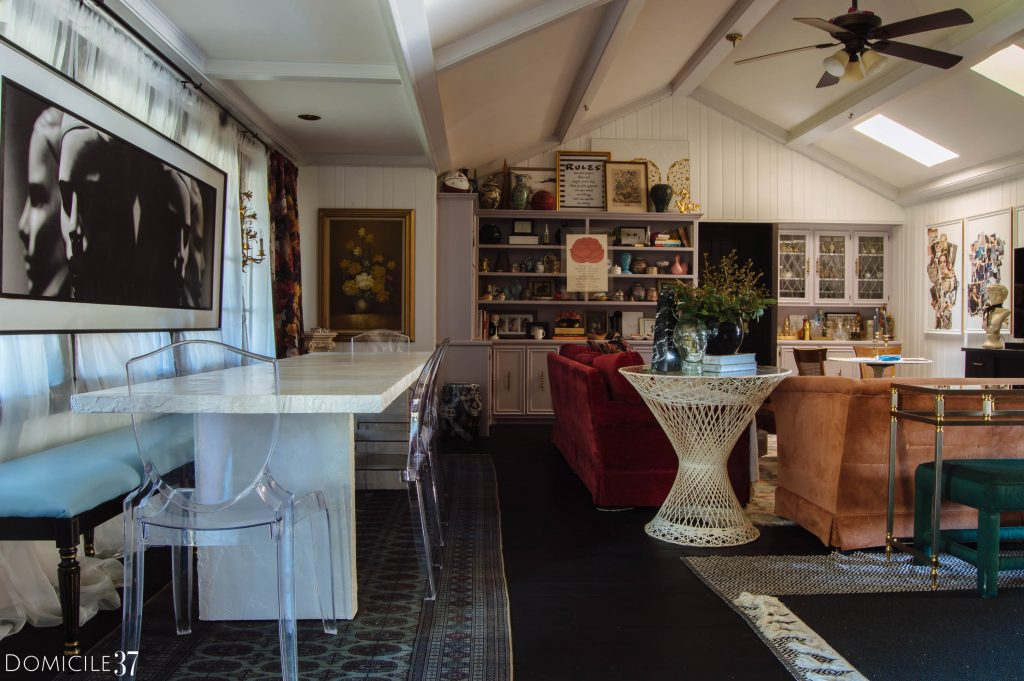 Maximalist Eclectic combined family and dining room
