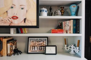 """Living Room builtins using Clare Paints """"Grayish"""" Color"""