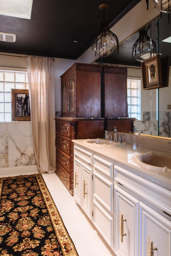 One Room Challenge French gothic bathroom remodel